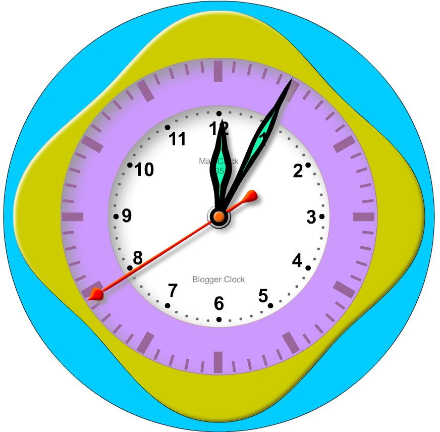 Blogger Clock - View on Mobile Phone