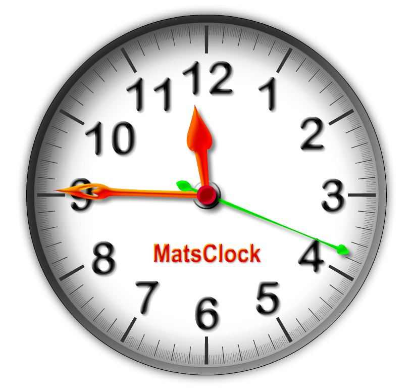 Free Flash Clock - MatsClock